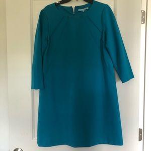 Turquoise blue shirt dress